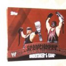 UNDERTAKER & KANE - 2010 Topps WWE Championship Material PUZZLE