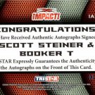 SCOTT STEINER & BOOKER T - 2009 TRISTAR TNA Impact BLUE Autograph #03 of 25 made