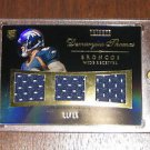2010 Topps Tribute Triple Swatch Jersey Black Demaryius Thomas Rookie Card #/15