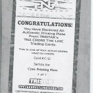 STING BOOKER T SAMOA JOE - 2008 TNA Cross the Line PRINTING PLATE AUTOGRAPH #1/1