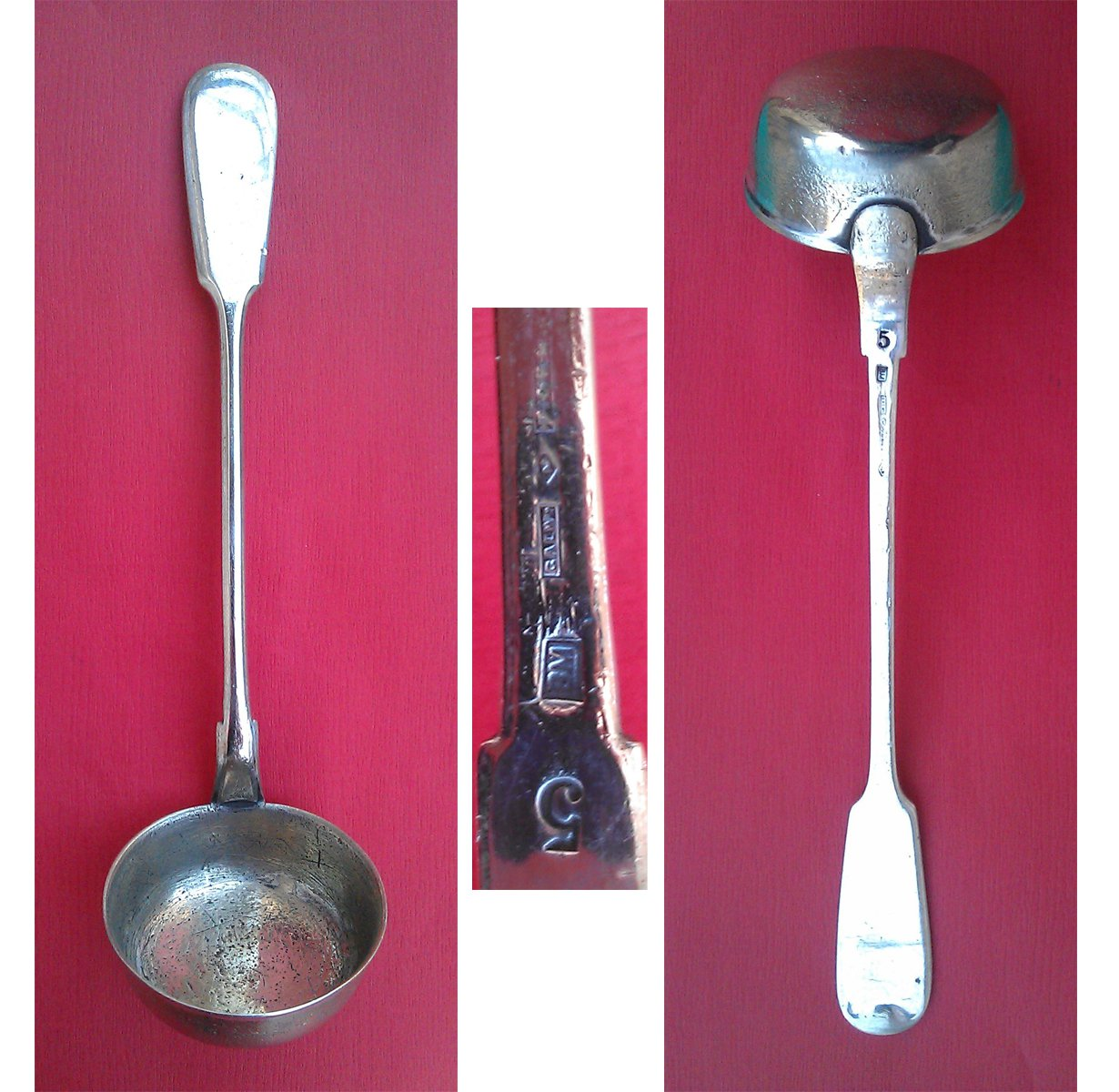 Ladle silver plated origin Poland after 1914