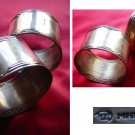 Pair of 2 old Round Silver Plated Napkin. Russian origin