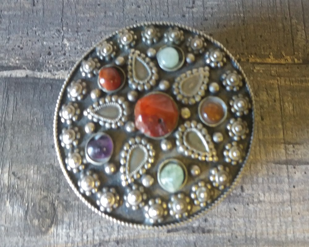 Vintage Indian Round Jewelry Box