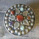 Vintage Indian Round Jewelry Box