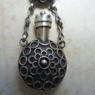 Ethnic Silver Perfume Bottle Necklace