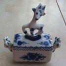Gzhel Porcelain Box - Blue & White Russian