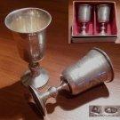 Traditionnel verre à pieds pour vodka en argent massif de Moscow entre 1908/1926