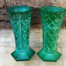 2 Small Malachite Vase