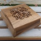 Handcrafted Curve Armenian Wooden Box with Eternity Sign