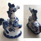 Gzhel Horse Figurine – Blue & White Russian Porcelain Figurines