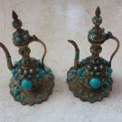 Decorative Pair of vintage Brass Indian Jugs