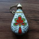 Russian/Soviet Era 925 Gilt Sterling Silver & Enamel Perfume Bottle