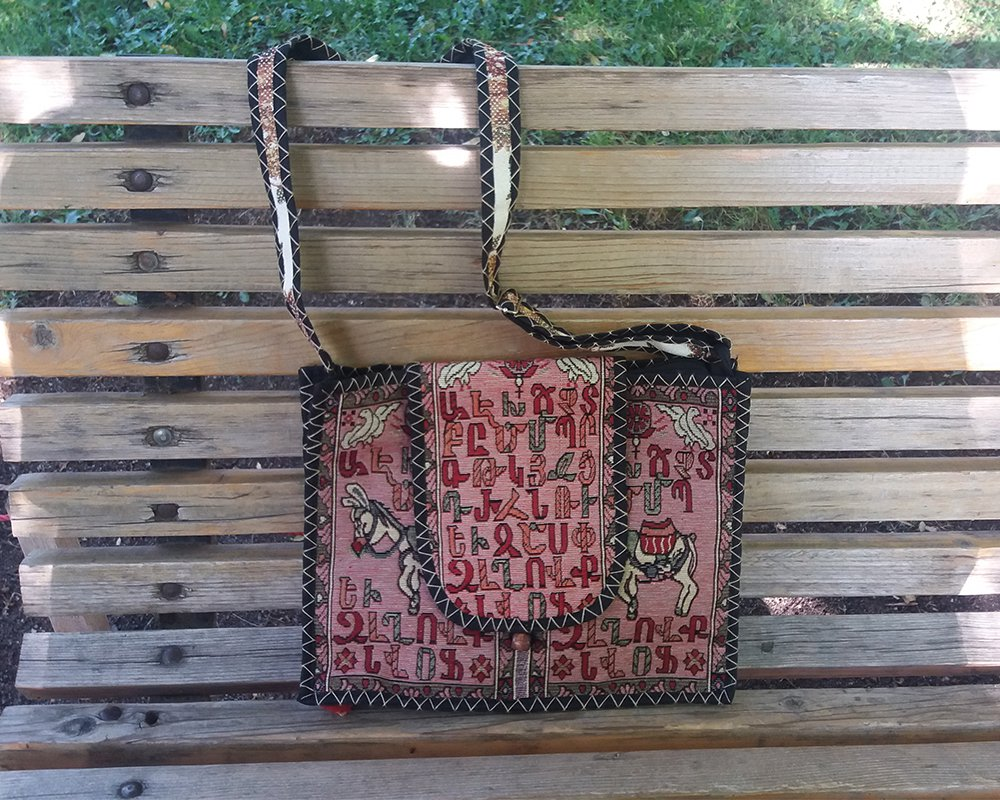 Armenian Alphabet Bag