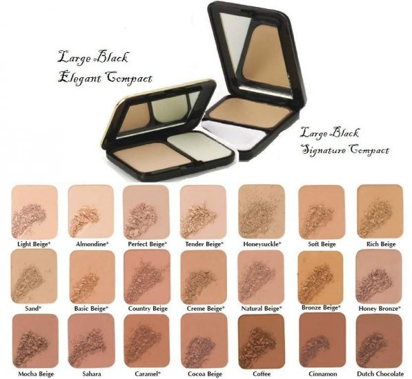 Two Way Foundation Large & Elegant Black Compacts