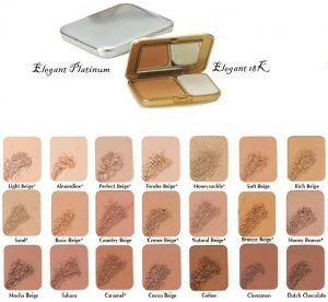 Two Way Foundation Elegant Platinum & 18K Compacts