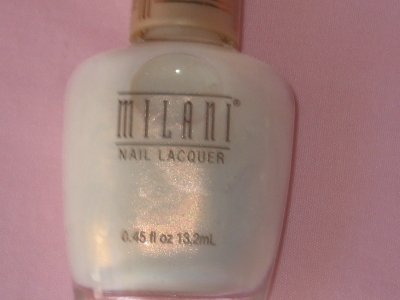 MILANI FRENCH Manicure NAIL Polish #351 CHANTILLY Irridescent Lacey White