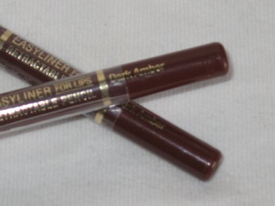 2 MILANI EASYLINER RETRACTABLE LiP Liner Pencils DARK AMBER Automatic LipLiner Burgandy BrowN NEW