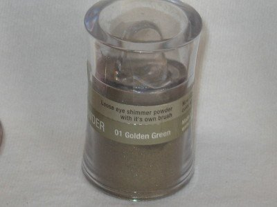 MILANI Loose EyE Shadow Shimmer Pot #01 GOLDEN GREEN Wet or Dry Antique Green EyeShadow NEW SEALED