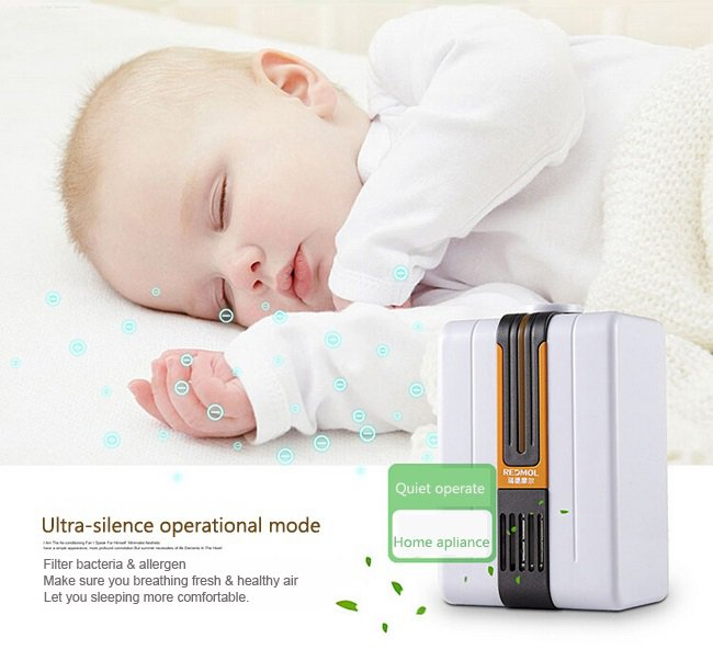 Mini Portable Air Purifier Ozonator Air Cleaner Negative Ions