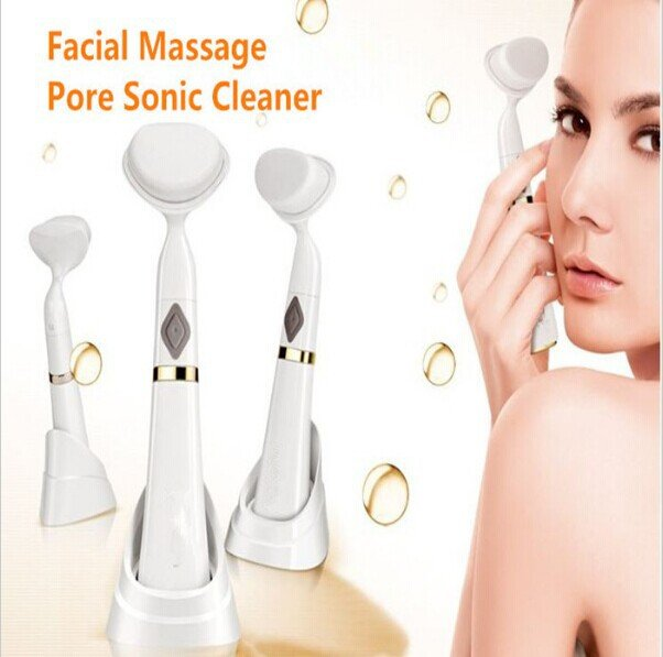 Sonic Vibration Face Massager Brush & Deep Pore Cleanser