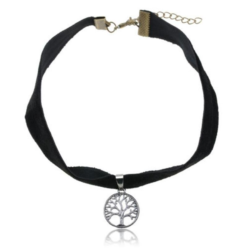 Elegant Gothic Japan Harajuku Clavicle Short Necklace Collar Tree Life