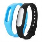 Best Selling Mi Smart Bracelet IP67 Waterproof Pedometer Sleep Monitor Black c/w extra Blue band