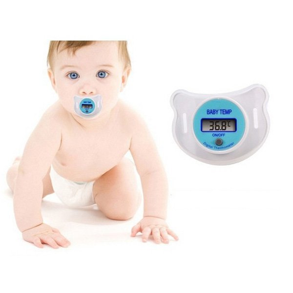 Durable Digital Baby Nipple Temperature Safe Pacifier Thermometer LCD Display