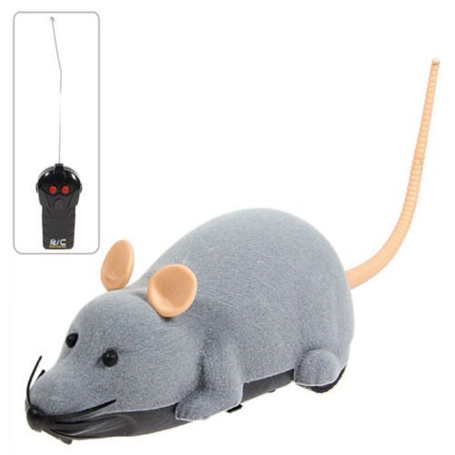 Electronic Remote Control Mouse Toy for Trick/Playing with Cat   -  GRAY