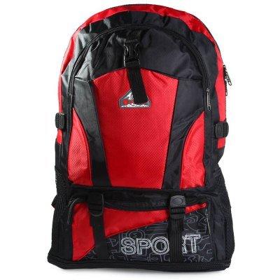 Oxford Outdoor Backpack Double Shoulder Bag  -  RED