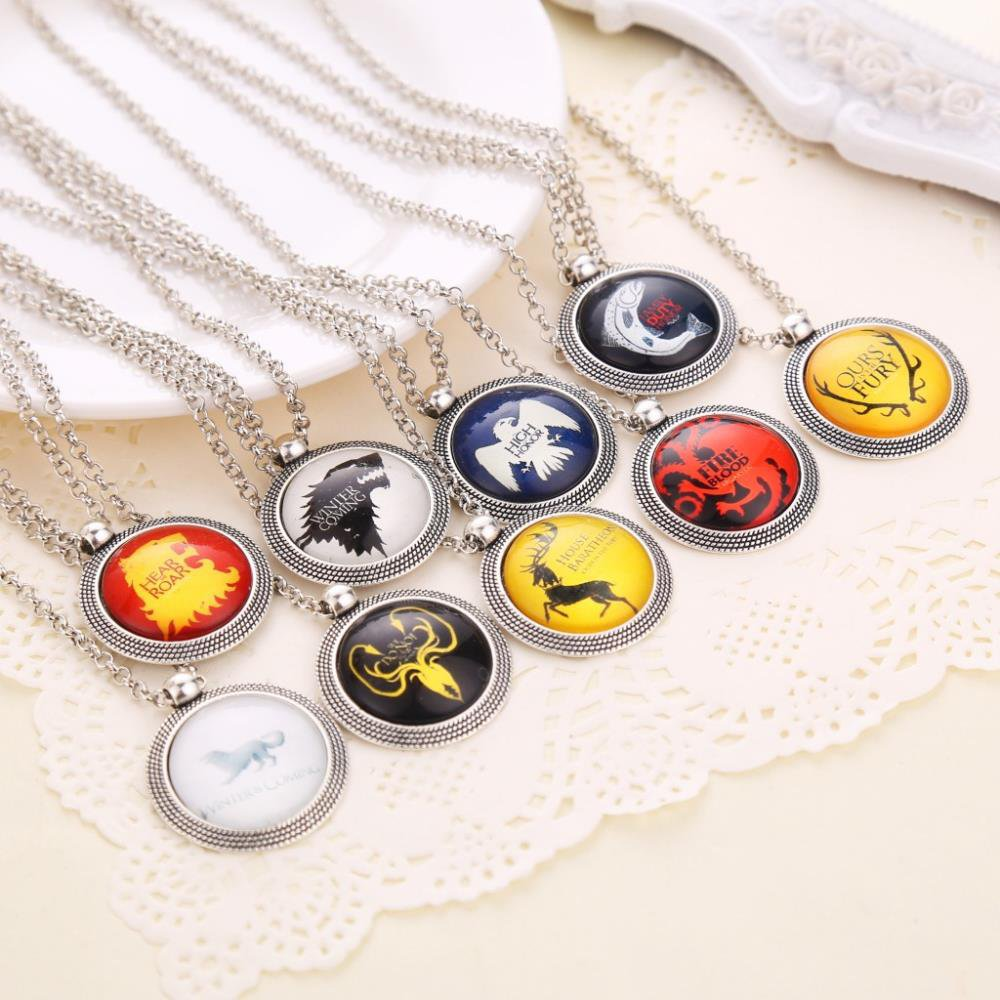 Game of Thrones Coat of Arms  Badge Crest Pendants - 2 Pcs