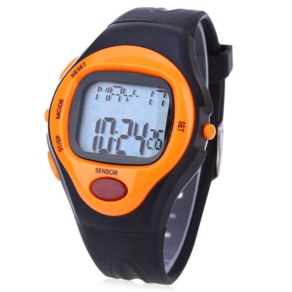 NEW! SPORTS Pulse Heart Rate Monitor Calorie Watch with Chronograph, Alarm in 5 Fun Exciting Colors!