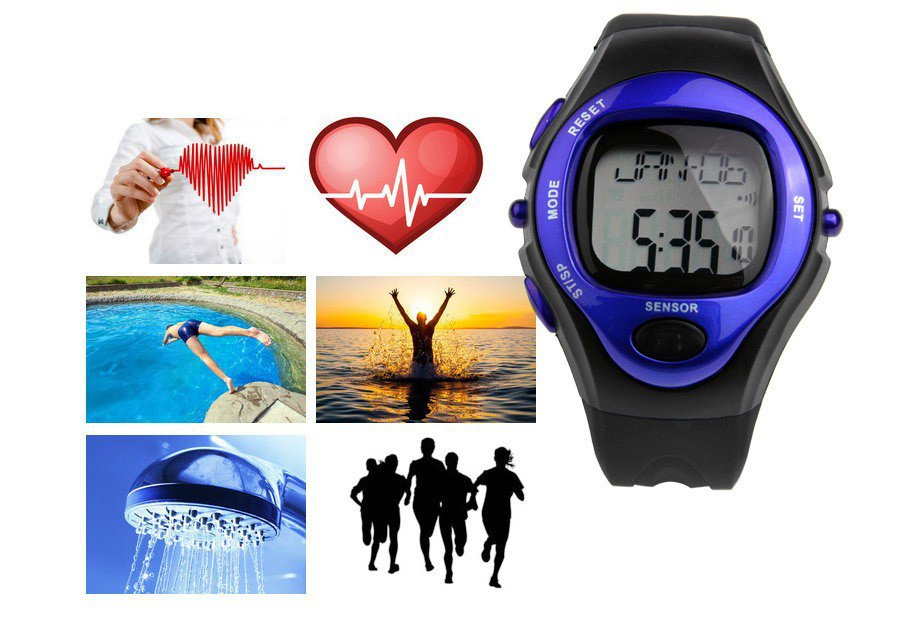 NEW! Pulse Heart Rate Monitor Calorie Watch! Chronograph, Alarm