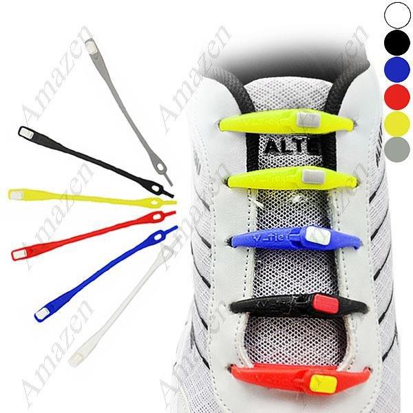 Fun Colorful Silicone Elastic Flexible Lazy Shoelaces