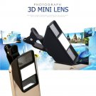 Creative 3D Mini Mobile Phone Camera Lens Stereo Vision Camera Lens for iPhone Samsung Tablet