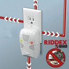 RIDDEX Quad Ultrasonic Electromagnetic Wave Mosquito Pest Repellent (EU/US Plug) White