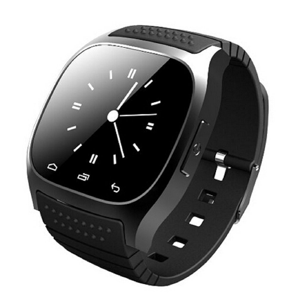 Amazen PWR-M26 Bluetooth Smart Watch w/Phone Call Music Player for Android - BLACK