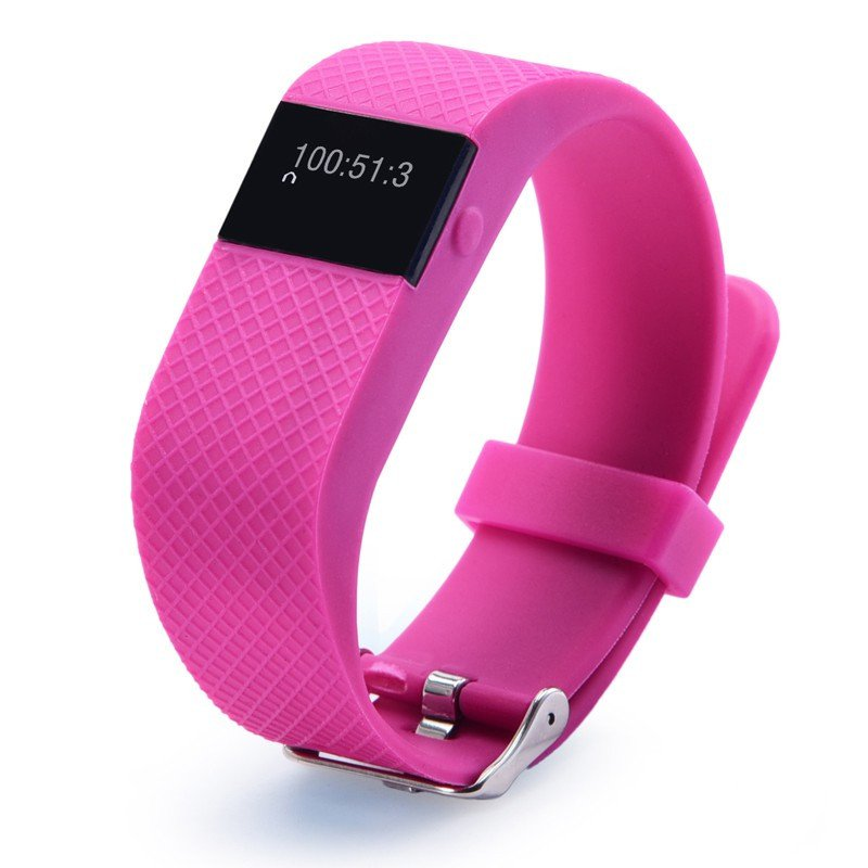Best Seller! TW64PRO Heart Rate Monitor Watch Fitness Tracker Pedometer Calorie BMI Sleep - Hot Pink