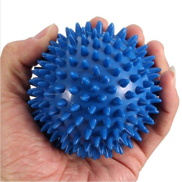 New 9cm Spiky Point Massage Ball Roller Reflexology Stress Relief  -  Blue