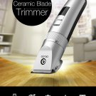 USB Ceramic Blade Hair Trimmer Rechargeable Double Blade 5-Speed LED indicators
