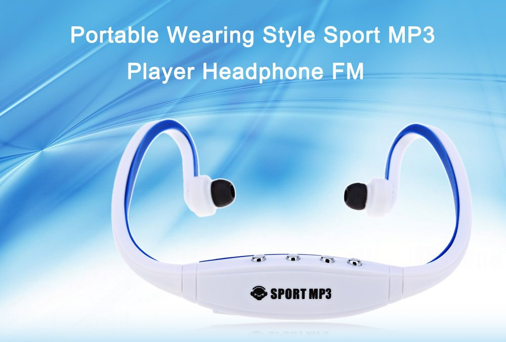 Sport MP3 Player FM Headphone - Blue/Black/Red/Green