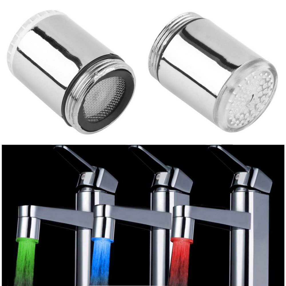 Temperature Sensor 3-Color Changing LED Faucet for Home Use