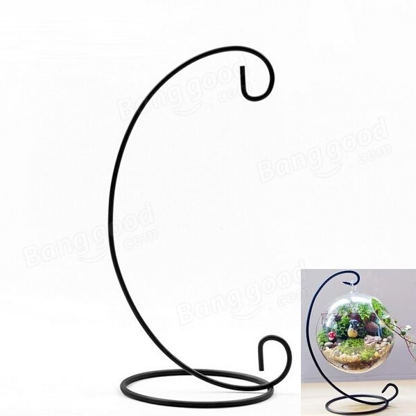Micro Landscape Suspension C Shaped Hob Iron Rack for Home and Garden