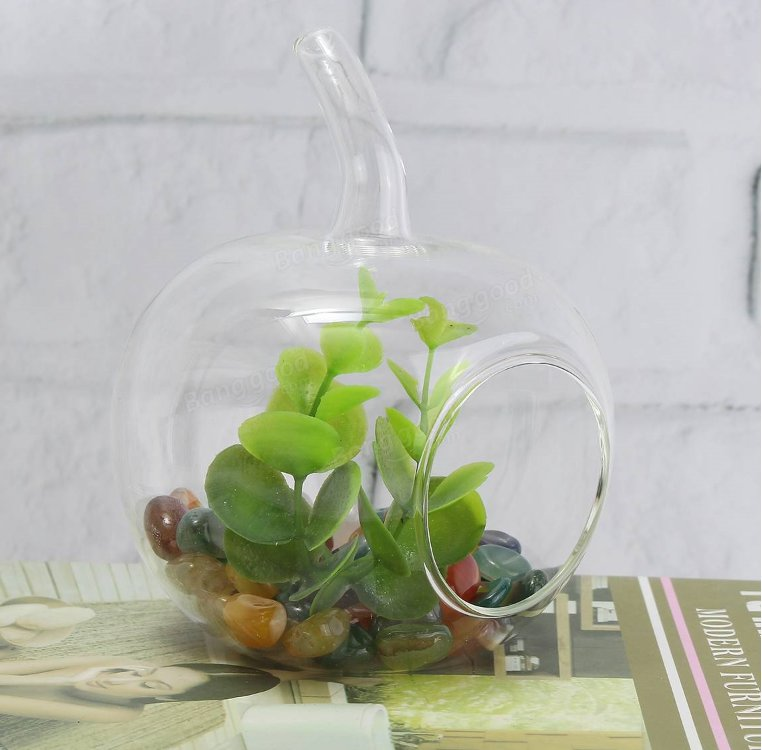 Crystal Glass Flower Vase Terrarium Container Micro Landscape Glass Bottles Decor