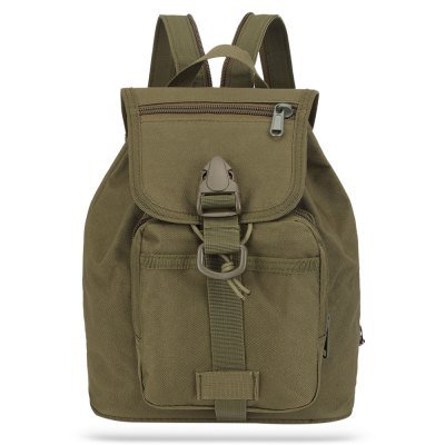 10L Canvas Sports Backpack Sling Bag ARMY GREEN