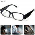 LED Eyeglass LED Reading Glasses Magnifier with Lights +2.5