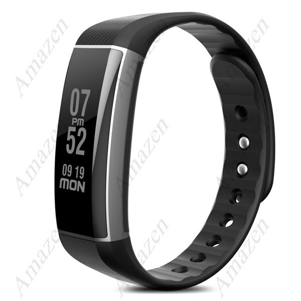 Best Seller! Latest Zeblaze BTH 4.0 Heart Rate Monitor Smart Wristband Aluminum Case - BLACK