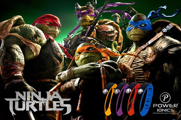Power Ninjas! 4in1 Titanium/Ge/F.I.R/ Tourmaline 3000ions/cc Sports Waterproof Bracelet!