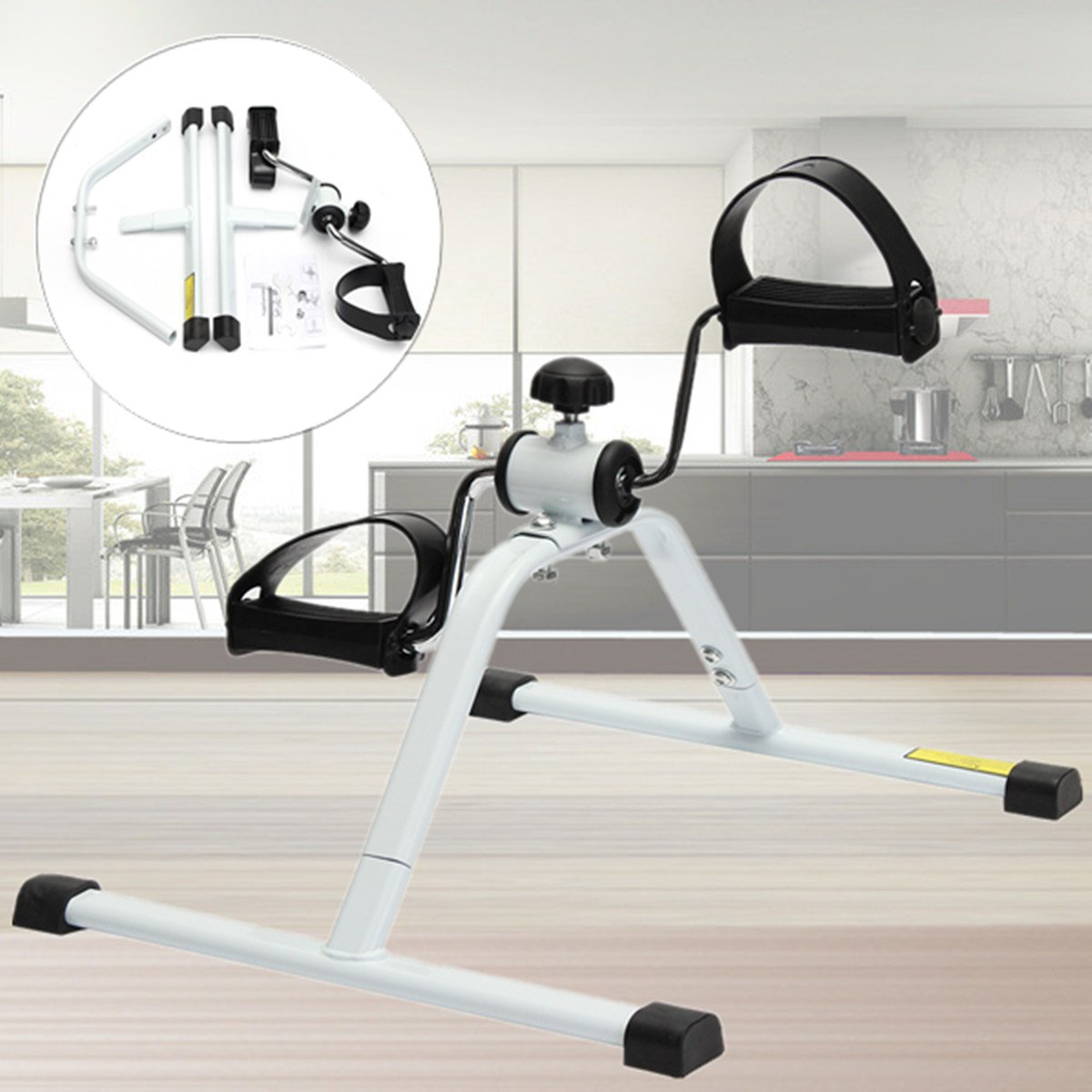 Adjustable Foldable Compact Cycle Fitness Pedal Exerciser/Bike Exercise