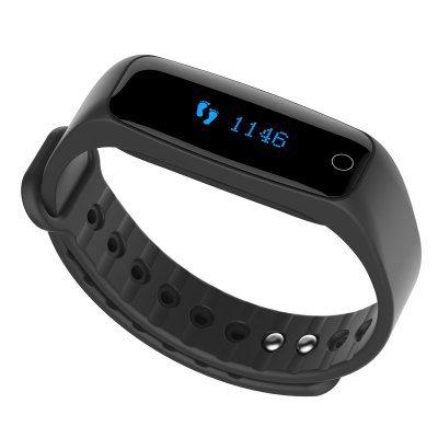 TEC H30 Smart Bracelet Heart Rate Calorie Sleep Monitor Call Reminder Pedometer Remote Cam - Black