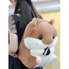 Adorable Soft Plush Hamster Backpack Students Bag - Brown